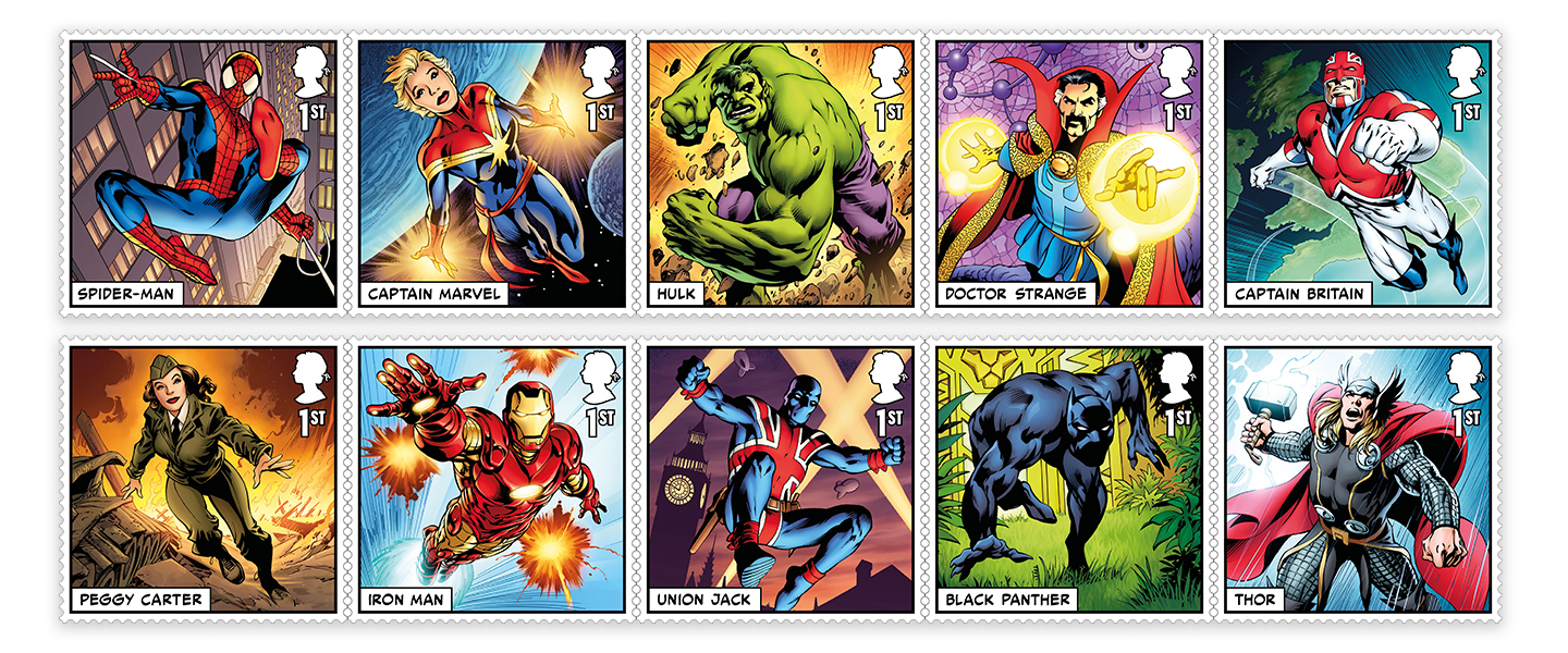 Brand New Marvel Super Hero Stamps Have Landed in the UK