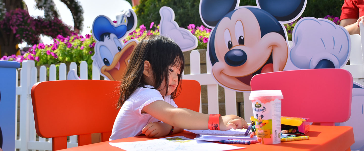 Disney Dubai Hosts First Ever Yoga Session at Miracle Garden's Disney Avenue