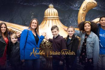 Celebrating wishes with Aladdin