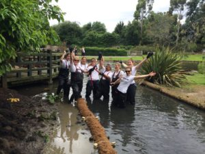 Disney UK gets 'stuck in' at the Wildfowl and Wetlands Trust - wading