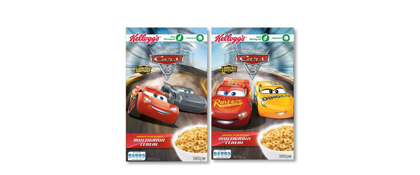 Kellogg's revs up breakfast with new Disney•Pixar Cars cereal